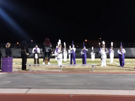 Marching Band Wraps Up Football Season At Final Home Game