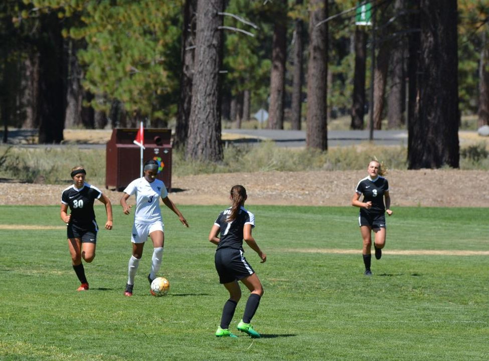 The varsity girls soccer team traveled to South Tahoe in California to compete in a soccer tournament. The experience helped the team bond and help lead them to a playoff spot later in the year.